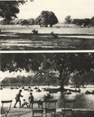 LONDON. Clapham's Common. West side and boating pond 1926 old vintage print